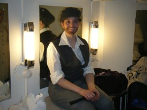 Sorcerer - Behind the scenes - A suspicious looking 'man' in the girls dressing room. Hmm