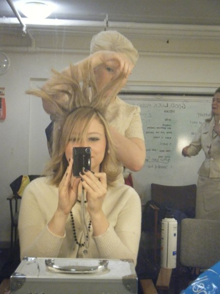 Sorcerer - Behind the scenes - LJ works her magic with backcombing and hairspray