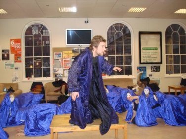 Sorcerer rehearsals - Trying out the sprite costumes