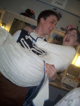 Behind the scenes - Pirates of Penzance - Esme gets carried away