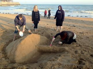 Weekend away 2011 - Broadstairs - Sand castle competition