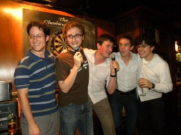 G&S karaoke - the boys give it their best shot